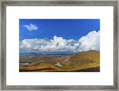 Framed Print featuring the photograph Valleys And Mountains In County Kerry On A Summer Day by Semmick Photo