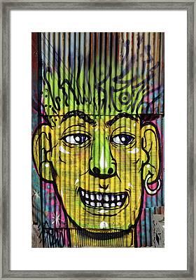 Corrugated Iron Man Framed Print