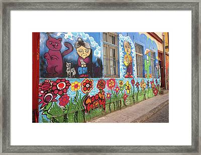 Valparaiso Street Art 24 Framed Print