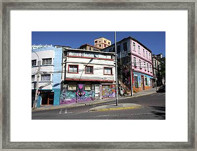 Valparaiso Street Art  Framed Print
