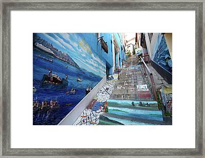 Stairway Blues Framed Print