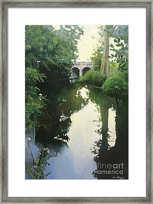 Valrose Campus Framed Print by Lin Petershagen