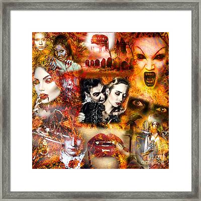 Vampire Nightmare Framed Print by John Rizzuto