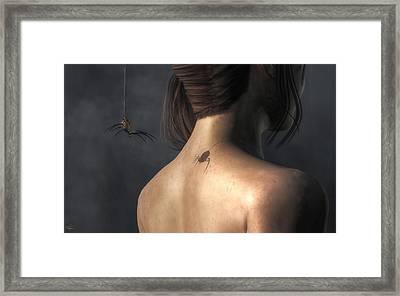 Vampire Spider Framed Print by Daniel Eskridge