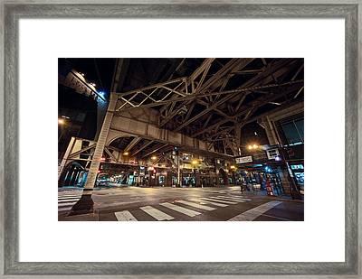 Van Buren Street - South Loop - Chicago Framed Print by Daniel Hagerman