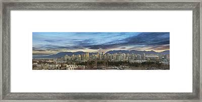 Van City Sunrise Framed Print by David Gn