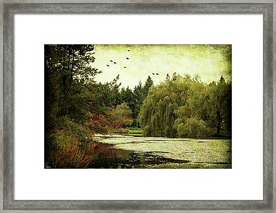 Framed Print featuring the digital art Van Dusen Garden by Margaret Hormann Bfa