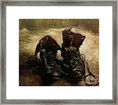 Van Gogh Boots 1886 Framed Print by Granger