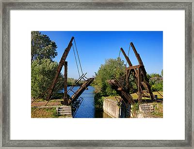 Framed Print featuring the photograph Van Gogh Bridge In Arles by Olivier Le Queinec