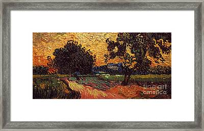 Van Gogh: Castle, 1890 Framed Print by Granger