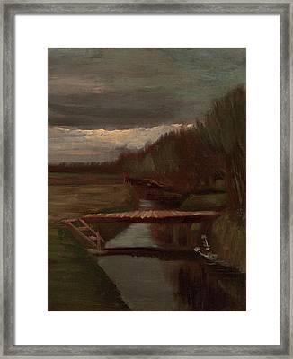 Van Gogh Ditch And Small Bridge Framed Print by Vincent Van Gogh