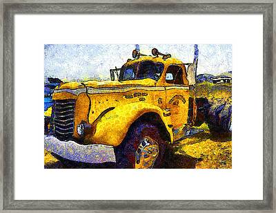Van Gogh Hauls Across America In A Semi-trailer Truck . 7d15483 Framed Print by Wingsdomain Art and Photography