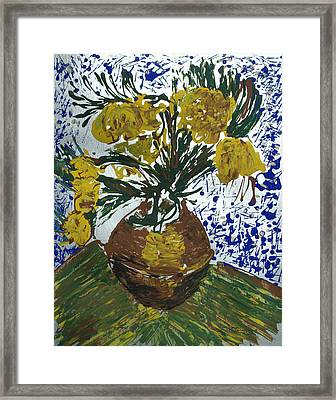 Framed Print featuring the painting Van Gogh by J R Seymour