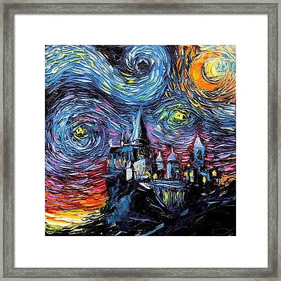 van Gogh Never Saw Hogwarts Framed Print by Aja