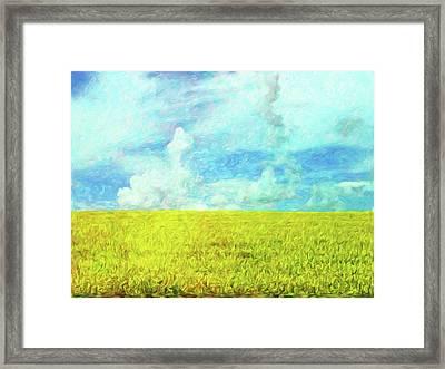 Van Gogh On The Prairie Framed Print