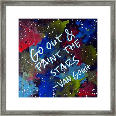Van Gogh Quote Framed Print by Michelle Eshleman