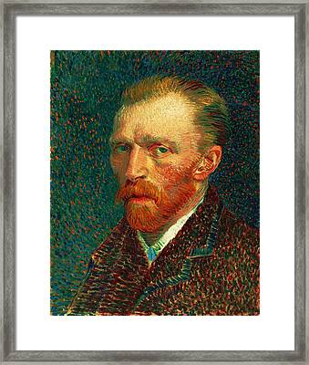 Van Gogh Self Portrait Framed Print by Pg Reproductions
