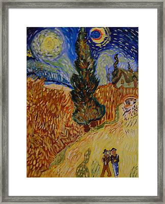 Van Gogh Study Framed Print by Michele Edler
