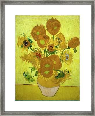 Van Gogh Sunflowers Framed Print by Vincent Van Gogh