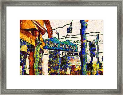Van Gogh Takes A Wrong Turn And Discovers The Castro In San Francisco . 7d7547 Framed Print by Wingsdomain Art and Photography