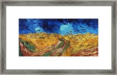 Van Gogh: Wheatfield, 1890 Framed Print by Granger