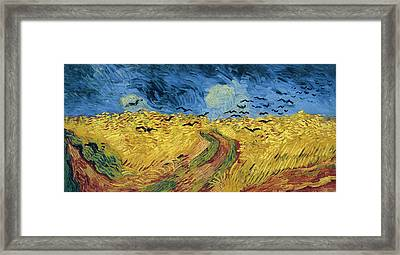 Van Gogh Wheatfield With Crows Framed Print by Vincent Van Gogh