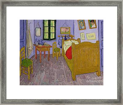 Van Goghs Bedroom At Arles Framed Print by Vincent Van Gogh