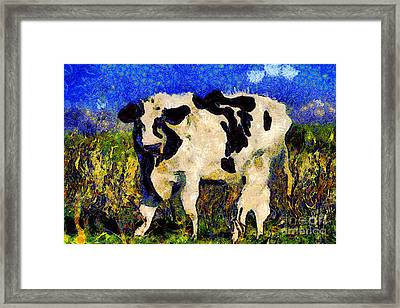 Van Gogh.s Big Bull . 7d12437 Framed Print by Wingsdomain Art and Photography