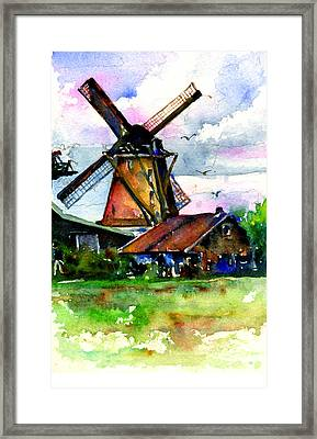 Van Gough Windmill Framed Print by John D Benson