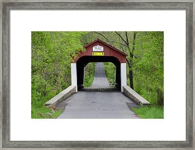 Van Sandt Covered Bridge - Bucks County Pa Framed Print by Bill Cannon