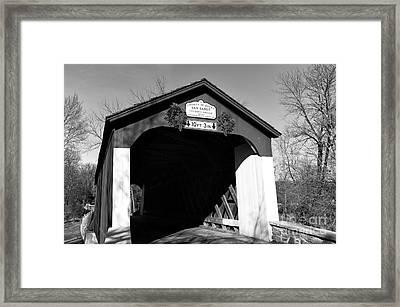 Van Sandt Covered Bridge Mono Framed Print