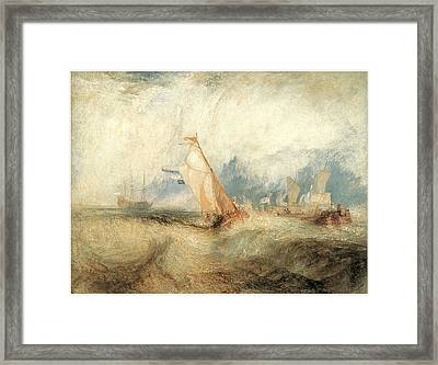 Van Tromp Going About To Please His Masters Framed Print by J M W Turner