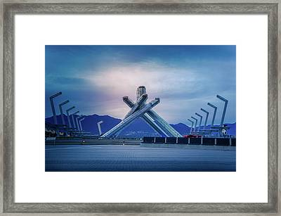 Vancouver 2010 Olympic Cauldron Framed Print by Art Spectrum