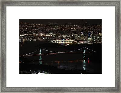 Vancouver At Night Framed Print