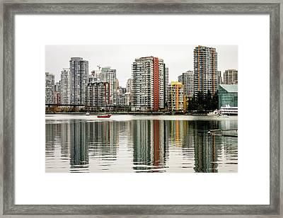 Vancouver Bc Sky Line Framed Print