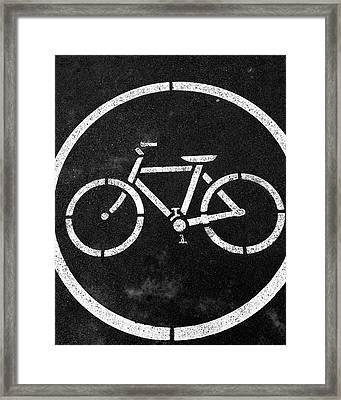 Vancouver Bike Lane- Art By Linda Woods Framed Print