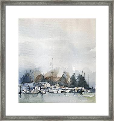 Vancouver Boats Framed Print by Stephanie Aarons
