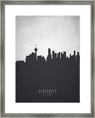 Vancouver British Columbia Cityscape 19 Framed Print by Aged Pixel