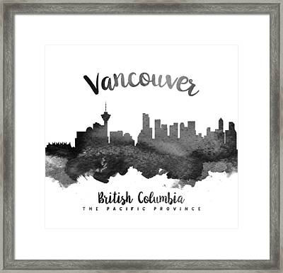 Vancouver British Columbia Skyline 18 Framed Print by Aged Pixel