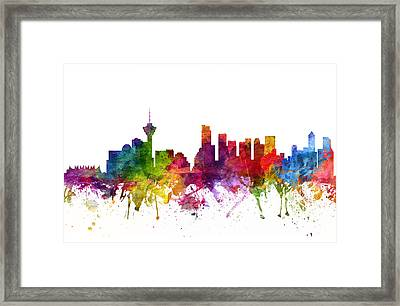 Vancouver Canada Cityscape 06 Framed Print
