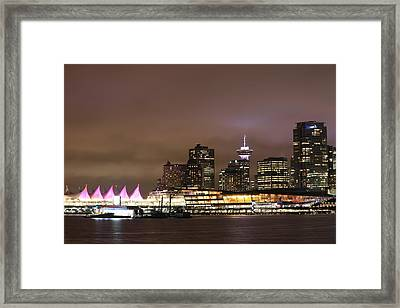 Vancouver Canada Place Framed Print