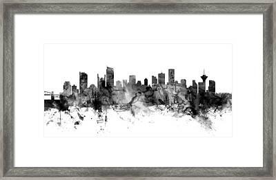 Vancouver Canada Skyline Panoramic Framed Print