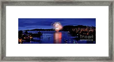 Vancouver Celebration Of Light Fireworks 2015 - Canada Framed Print by Terry Elniski