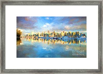 Vancouver City Framed Print