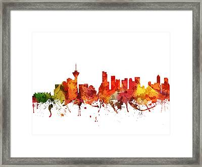 Vancouver Cityscape 04 Framed Print by Aged Pixel