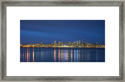 Vancouver Cityscape Framed Print by Mauricio Ricaldi