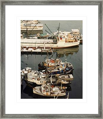 Framed Print featuring the photograph Vancouver Harbor Fishin Fleet by Jack Pumphrey