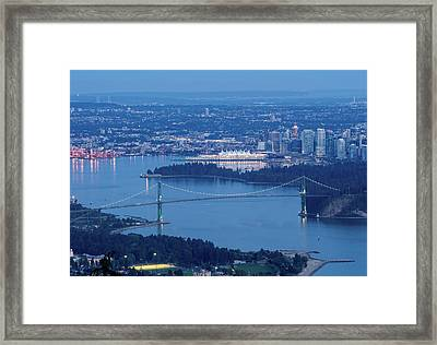 Vancouver Harbour Late Afternoon Framed Print