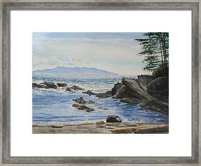 Vancouver Island Framed Print by Monika Degan