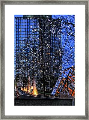 Vancouver - Magic Of Light And Water No 1 Framed Print by Ben and Raisa Gertsberg